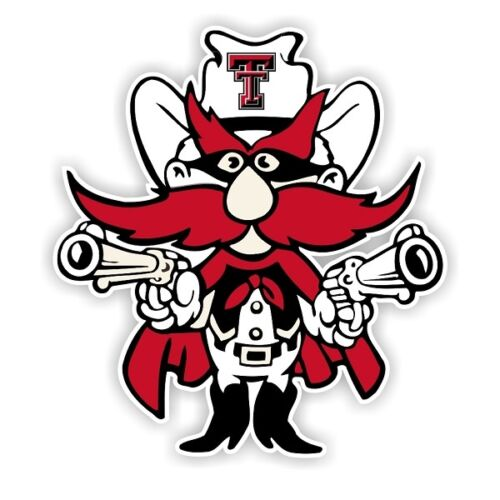 Texas Tech vinyl sticker for skateboard luggage laptop tumblers car b