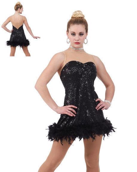 Adult XL Cruella Charleston Flapper Dance Costume Dress Halloween Tap Jazz