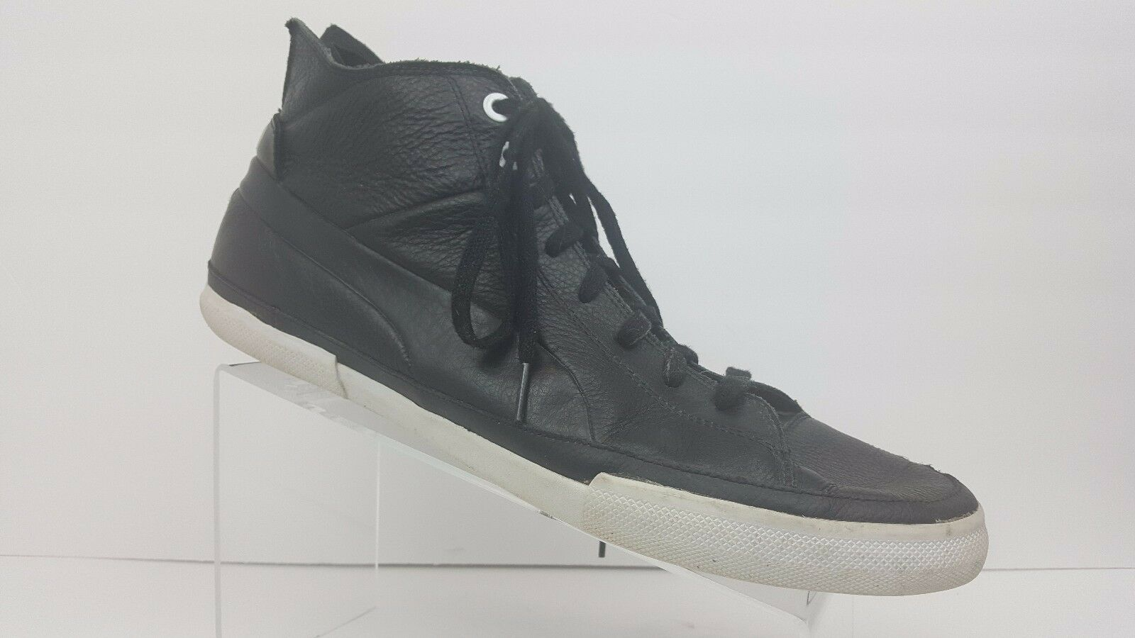 Puma Black Leather Street Step Mid Step L High top Sneakers Men's 12 Seasonal clearance sale