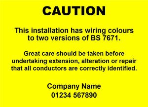 100 electrical caution harmonised labels mixed wiring stickers rh ebay co uk Cord Labels Speakers for Cable Labels