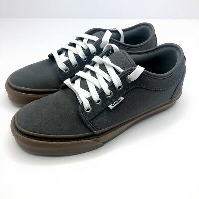 VANS CUKKA LOW PEWTER WHITE GUM VN0A38CGQ2Y MENS 6.5 NEW LACE UP SKATER SHOES   eBay