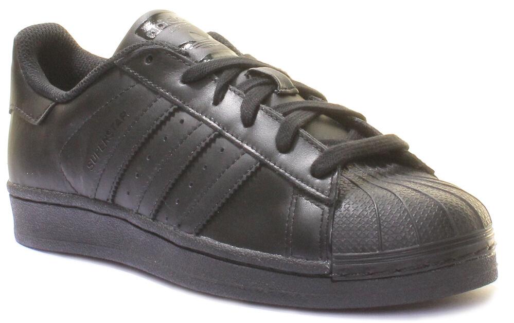Adidas Super Star B Grade Leder Trainers Größe UK 3 - 12