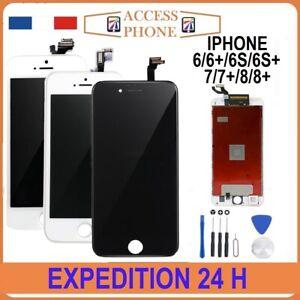 ECRAN-LCD-VITRE-TACTILE-SUR-CHASSIS-POUR-IPHONE-6-6S-7-8-PLUS-Noir-Blanc-OUTIL