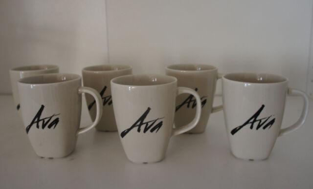 UP ALL NIGHT TV Prop 6 AVA Mug set Maya Rudolph Christina Applegate