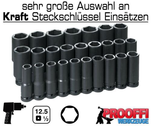 """3 X FORCE POWER VISSEUSE écrou 1//2/"""" Douille 17 mm 18 mm 19 mm 6 pans long"""