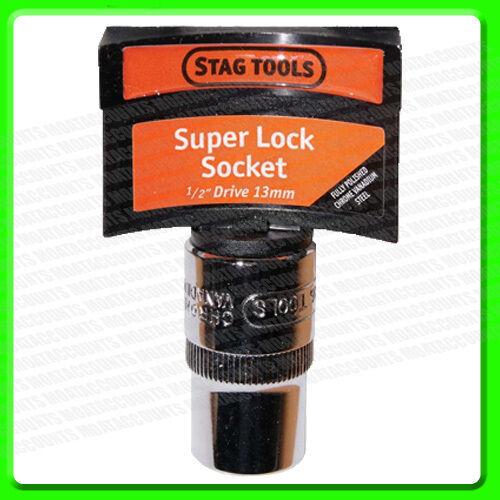 Chrome Vanadium Steel STA089 13mm 1//2/'/' Drive Socket