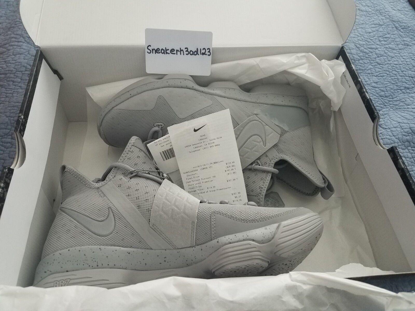 Deadstock Nike LeBron XIV 14 Silver Grey Size 11 NEW Receipt 852405 007 JAMES