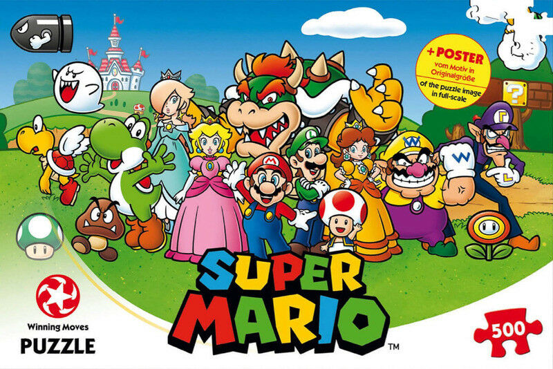 Action- & Spielfiguren Mario and Friends 500 Piece Puzzle Super Mario