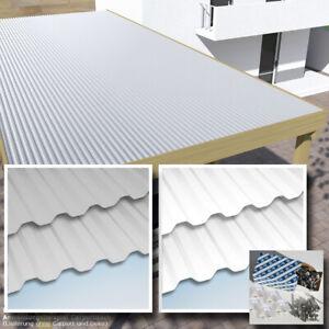 Dachplatten 6x2 m Lichtplatten Set weiss oder grau hagelfest bis 4 cm Korn-Ø