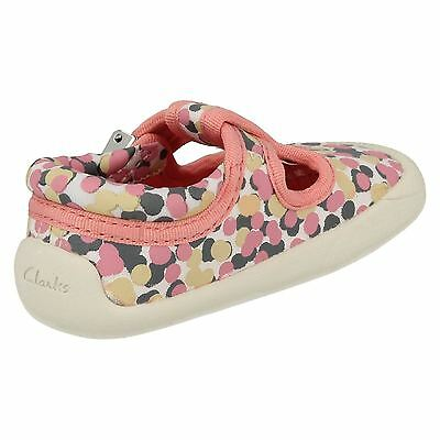 Girls Clarks Choc Cake T-Bar Canvas Pre Walker Shoes