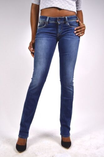 D45 Mittelblau Jeans 27 Droite Saturn Coupe 28 31 Pepe Taille 25 Normale wSEfSqt
