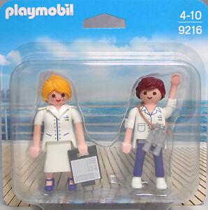 Playmobil-Blister-9216-Duo-Pack-Stewardess-und-Offizier-Steward-Duopack-NEU