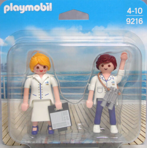 Playmobil Blister 9216 Duo Pack Stewardess und Offizier Steward Duopack NEU