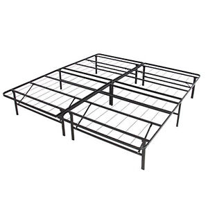Image Is Loading BCP Metal Bed Frame Foldable No Box Spring