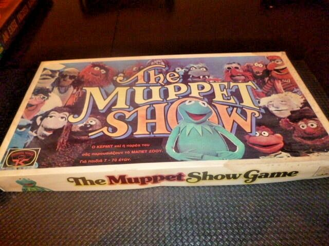 UNIQUE VINTAGE GREEK BOARD GAME - THE MUPPET SHOW - TV SHOW 70s NEW