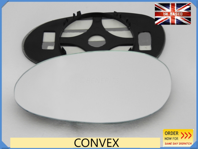 back plate #S001 For Smart Fortwo 1998-2007  Wing Mirror Glass Convex Left Side