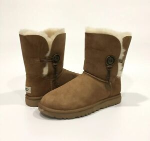 4f4a75c37d6 Details about UGG BAILEY AZALEA CHARM BOOTS BROWN CHESTNUT SHEEPSKIN -US  SIZE 8 -NEW