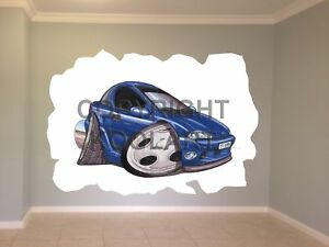 Huge-Koolart-Cartoon-Vauxhall-Opel-Tigra-Wall-Sticker-Poster-Mural-358