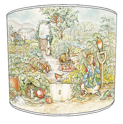 Lampshade Ideal To Match Childrens Beatrix Potter Peter Rabbit Wallpaper & Duvet