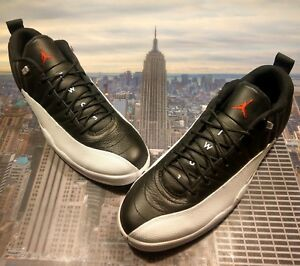 a2cb7342d67bea Nike Air Jordan XII 12 Retro Low Playoffs Black Red-White Size 18 ...