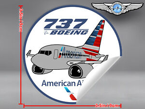AMERICAN-AIRLINES-AA-BOEING-B737-B-737-PUDGY-DECAL-STICKER