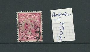 """KLEINrond """"AMSTERDAM-5  1898"""" op 37  VFU/gebr  CV 13 €"""