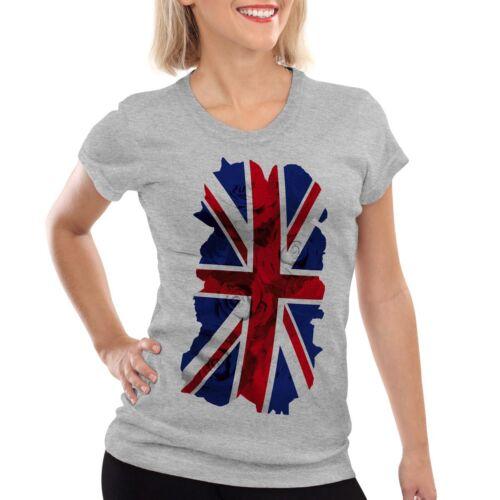 Union Jack Rosen Damen T-Shirt Flagge Flag Great Britain Queen England London uk