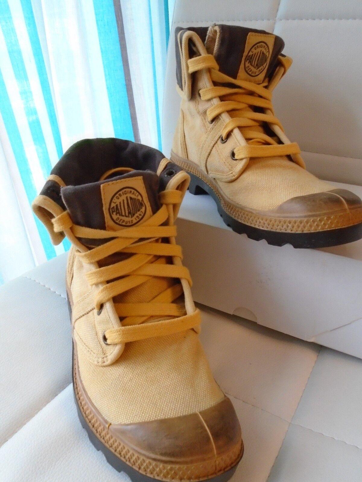 Palladium Damen Schnür-Boots Used 37 Look Boots Canvas hellbraun Größe 37 Used Neu f82f3c
