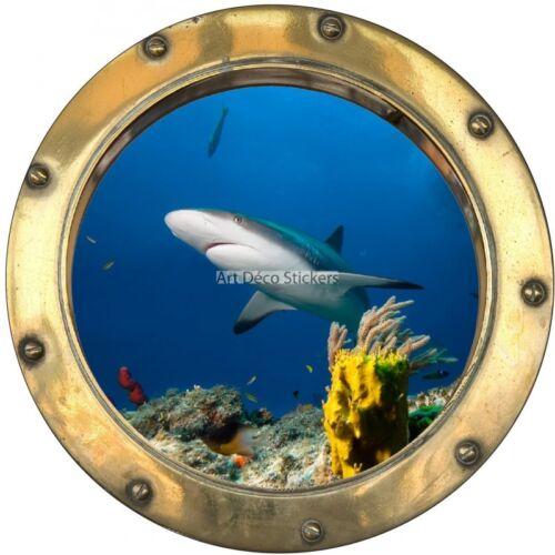 Stickers hublot Plage Requin 8823 8823
