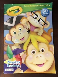 Crayola monkey business coloring book