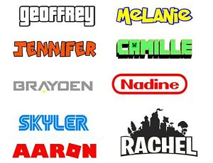 VIDEO-GAME-PERSONALIZED-NAME-ON-VINYL-DECAL-STICKER-CHOOSE-SIZE-FONT-AND-COLOR