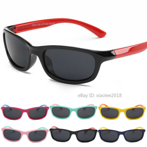 Boys Girls Polarized Sunglasses Kids Cute Shades UV400 Childrens Outdoor Glasses