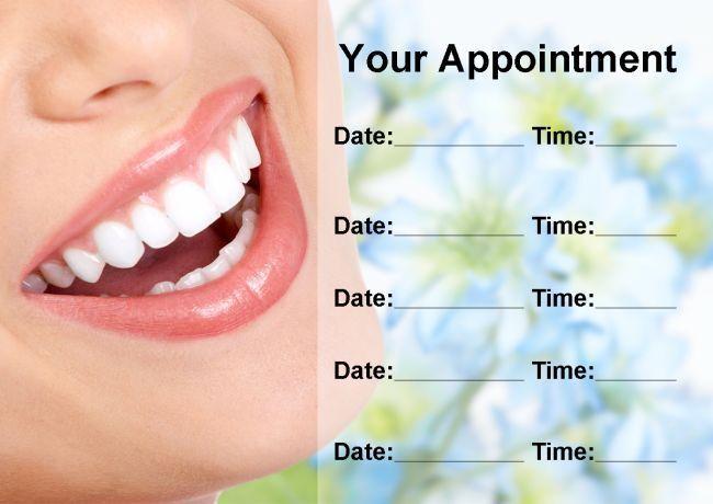 Dentiste orthodontiste blanchiHommes t dents des dents t cartes de rendez-vous personnalisé d150cc
