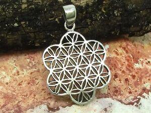 Blume-des-Lebens-Anhaenger-925-Silber-2-3-cm-Esoterik-Mandala