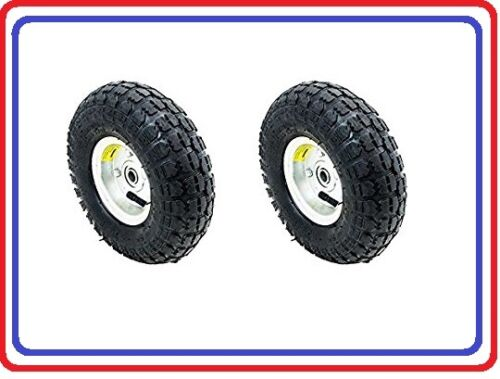 """Free Shipping Air Tire 10"""" For Dolly Cart  Wagon *2PC Set* Industrial Quality"""