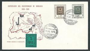 1959-ITALIA-FDC-GU-SA-FRANCOBOLLO-ROMAGNE-NO-TIMBRO-ARRIVO-KI1-4
