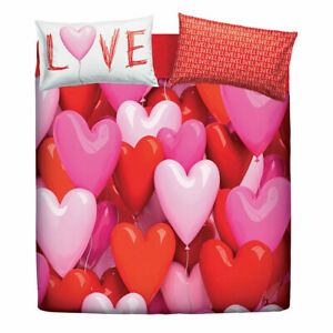 Copripiumino Matrimoniale Love.Set Copripiumino Matrimoniale Bassetti Love Party Cuori Ebay