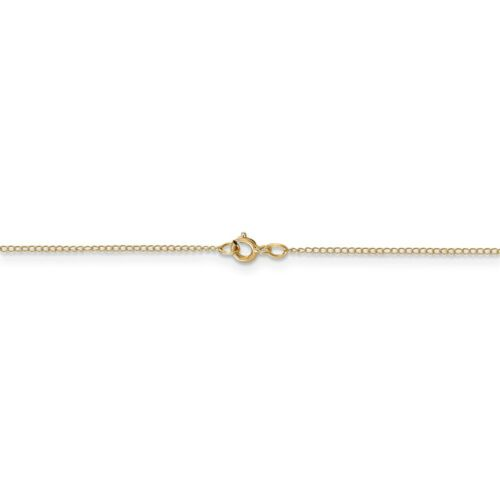 """24/"""" Details about  /14k Yellow Gold 0.50mm Pendant Curb Chain w// Spring Ring 16/"""""""