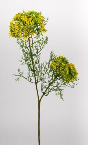 Dillzweig mit Blüten 56cm gelb CG Kunstblumen künstliche Blumen Kunstzweig