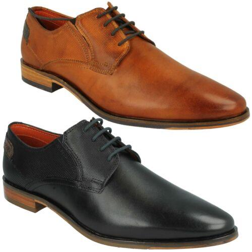 31114701 MENS BUGATTI LEATHER LACE UP POINTED TOE SMART FORMAL WORK SHOES