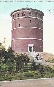 Details about VIntage Postcard-Observatory and Reservoir, Volenteer Park,  Seattle, WA