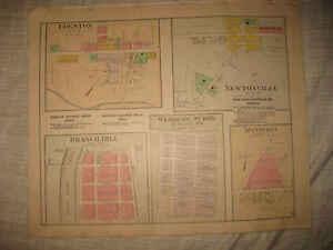 Miami Township Ohio Map.Antique Newtonsville Branch Hill Edenton Miami Township Clermont
