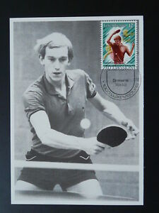 table tennis maximum card Luxembourg 1986