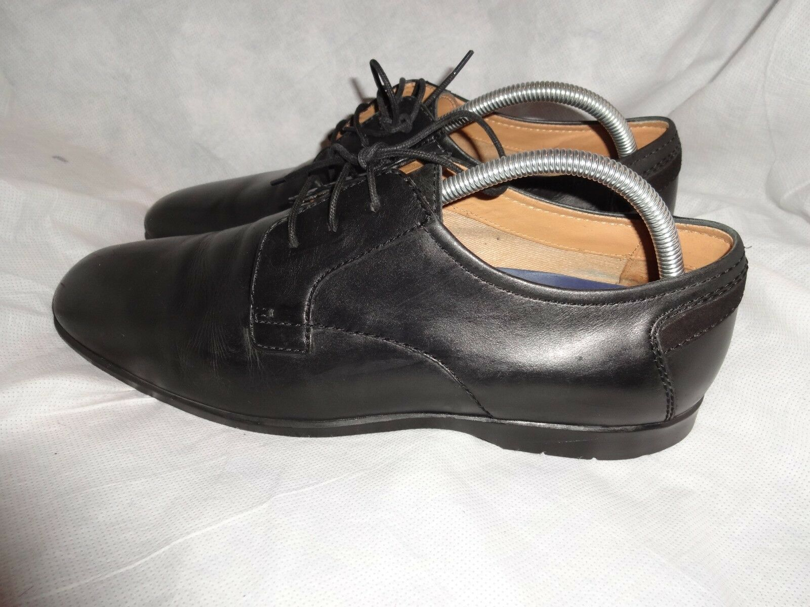 MARKS & SPENCER AIRFLEX MEN BLACK LEATHER LACE UP SHOE SIZE UK 9.5 EU 43.5 VGC