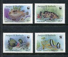 Antigua Barbuda, MNH, Marine Life Fish 1987, WWF. x18762