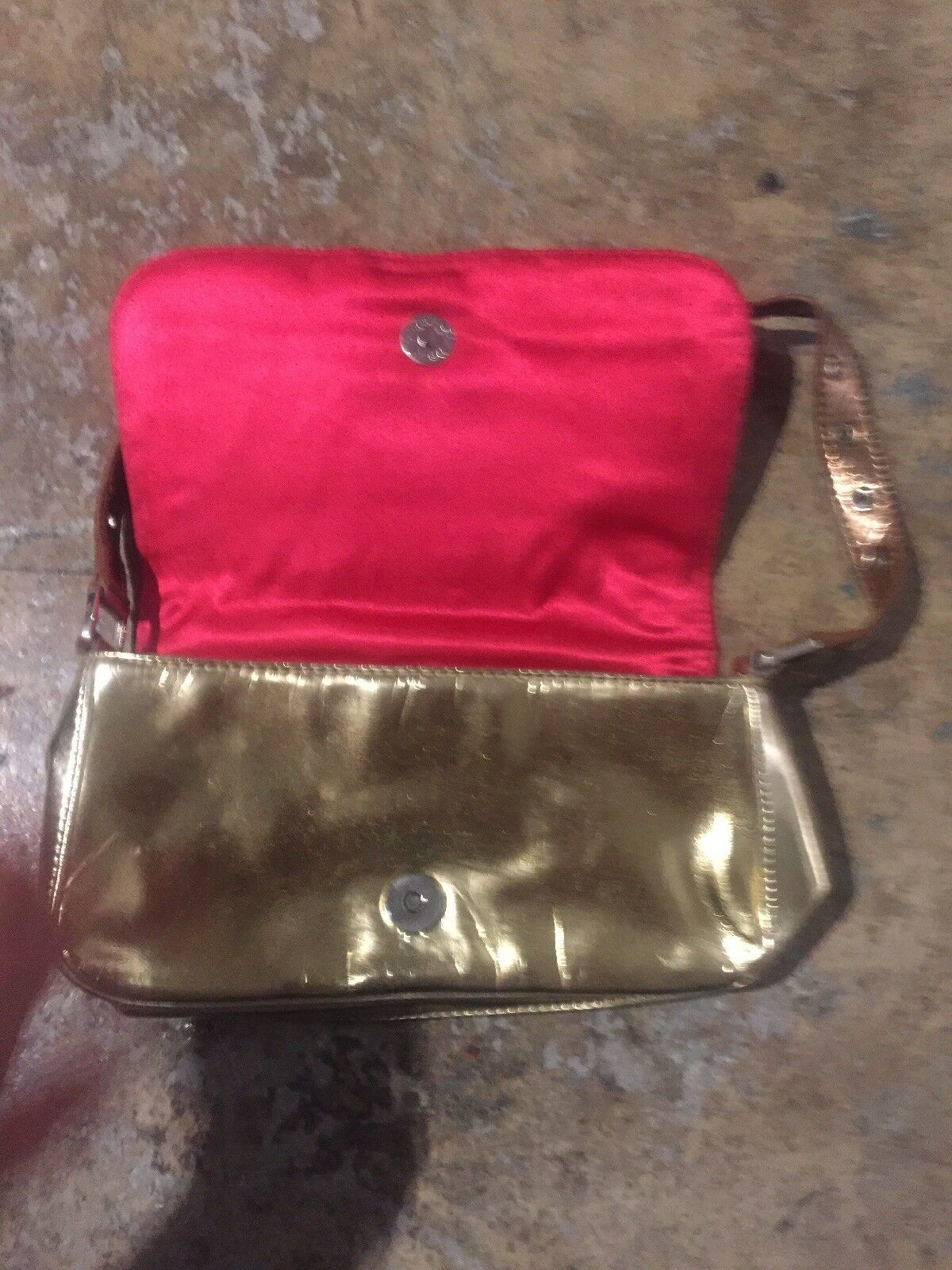 Fetish Clutch Bag Purse gold silver studs cooper … - image 6