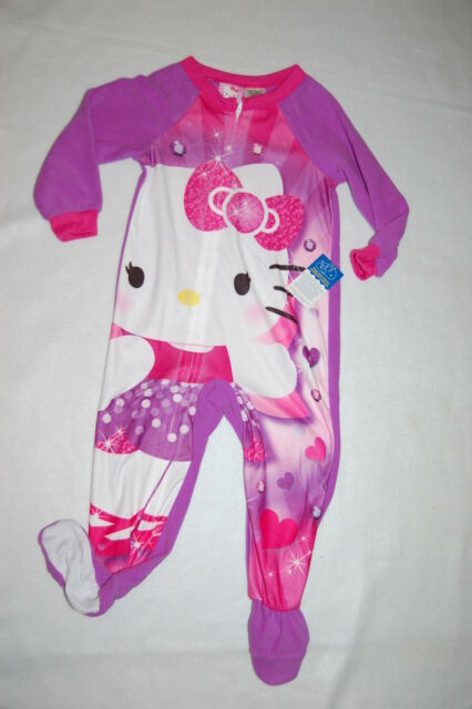 Hello Kitty Footed Sleeper Blanket Pajama Girl Size 4T 5T