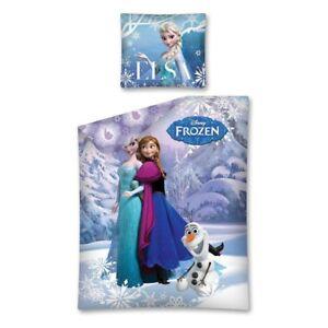 Disney-Frozen-Elsa-Tournant-Linge-De-Lit-2-Pieces-70-x-80-cm-140-x-200-cm-NOUVEAU-amp-NEUF-dans-sa
