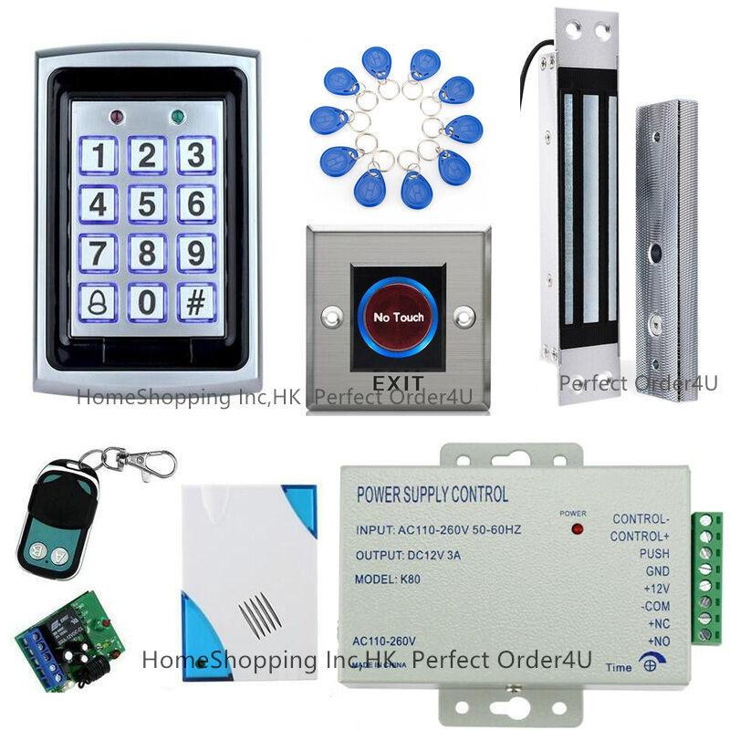 Tarjeta Rfid + contraseña puerta de metal Sistema De Control De Acceso + Cerradura Magnética Eléctrica
