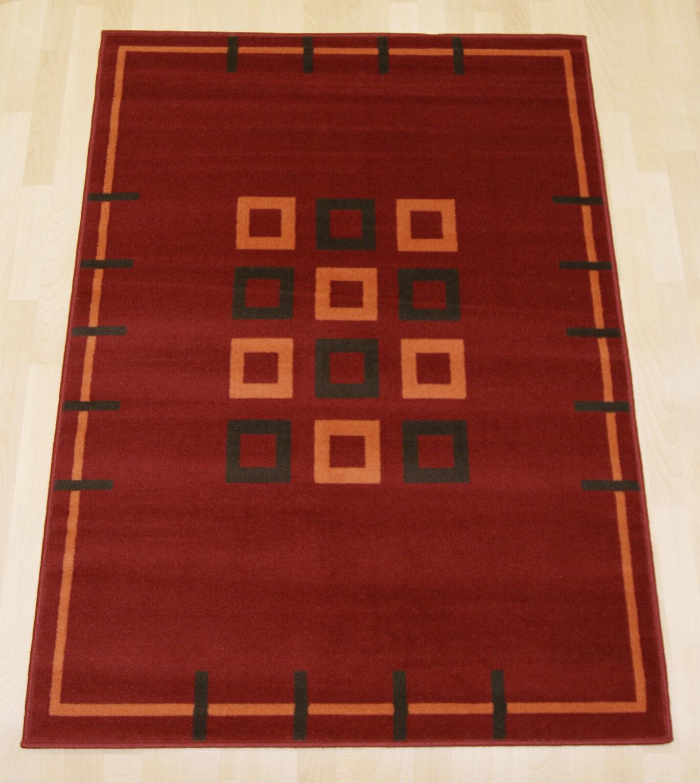 Budget a buon mercato Rosso scatole Moderno Piccolo Medio Bambine astratto MAT Tappeto 120x170cm